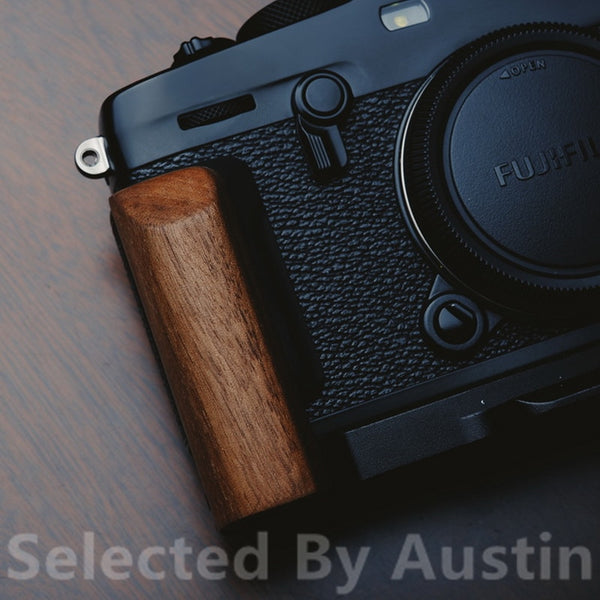Wooden Wood Hand Grip Bracket Quick Release L Plate For Fuji Xpro3 Fujifilm X PRO3