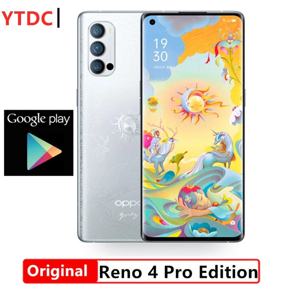 Official Original Oppo Reno 4 Pro 5G Mobile phone Snapdragon 765G Octa Core 6.5'' 90Hz AMOLED 48MP 4000Mah 65W SupperVOOC2.0 NFC