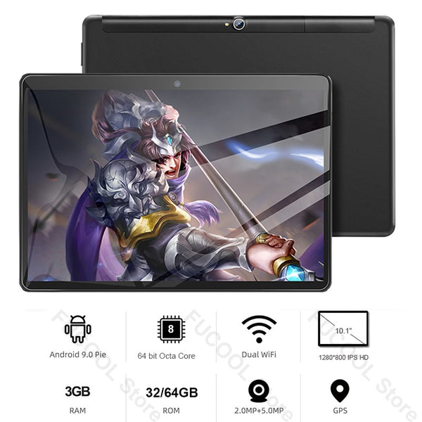 10.1 IPS HD Display Android Tablet 9.0 pie 3GB RAM 32/64GB Storage MT6762 Octa Core 5G WiFi 10 inch Tablets pad Tab With Gift