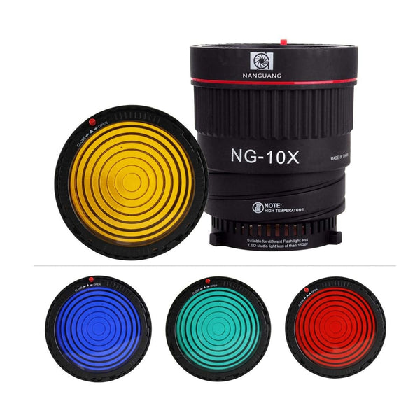 Nanguang  NG-10X Fresnel Lens Focusing Adapter Lens kit for Bowens-fit Lights 10X Studio Light Focus Mount Lens Adjust for Flash