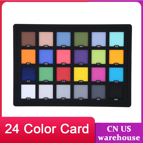 Andoer Professional 24 Color Card Test Balancing Checker Card Palette Board for Superior Digital Color Correction (Black)