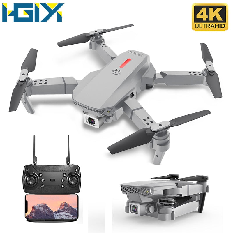 HGIYI M73 480P 4K Drone RC with HD Camera Altitude Follow Me Mini Toys FPV Folding Quadrocopter Drones VS SG106 KF609 E68 E58