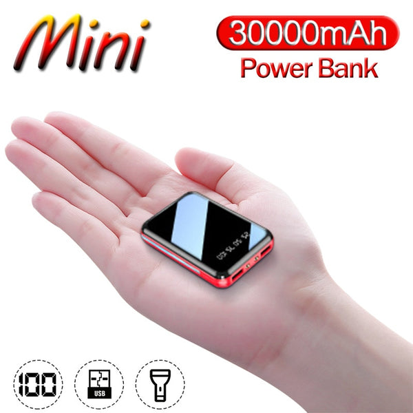 Power Bank 30000mAh Mini Portable Phone Fast Charger USB Charging Charger External Battery Pack for Samsung Xiaomi Iphone