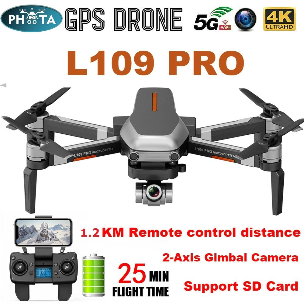 L109 Pro X1 PRO GPS Drone 4K Two-Axis Anti-Shake Gimbal Camera HD 5G WIFI FPV Brushless Motor 1.2km Long Distance RC Quadcopter