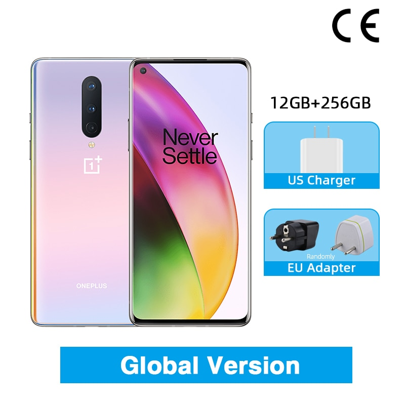Global Rom OnePlus 8 5G Smartphone 8GB 128GB Snapdragon 865 Octa Core 6.55'' 90Hz Fluid Display UFS 3.0 48MP Triple Cams WiFi 6