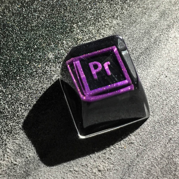 Pr Purple No Backlight Resin Keycaps For Cherry Mx Switch Mechanical Gaming Keyboard DIY Decoration Key Cap Replacement SA R1 (resin keycap)