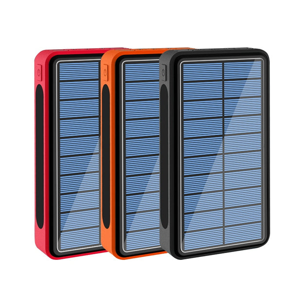 50000mAh Solar Power Bank with Outdoor Camping LED Flashlight Powerbank For Xiaomi iPhone Portable Charger Battery Poverbank