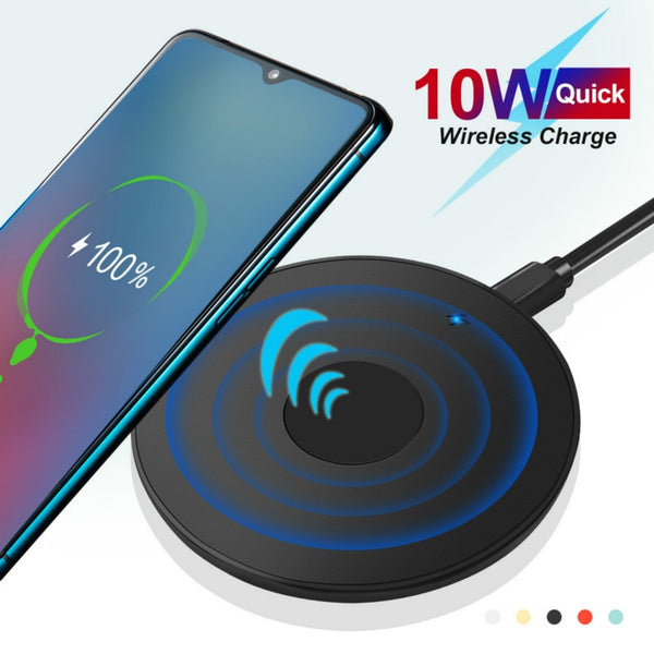 10W Qi Wireless Charger For iPhone 11 Pro Xs Max X Xr 8 Induction Fast Wireless Charging Pad For Samsung S20 Xiaomi mi 9 cable