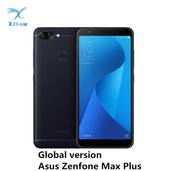 ASUS ZenFone Max Plus M1 ZB570TL Smartphone Global version Mobile Phone MT6750T 4GB RAM 64GB ROM OTG 4130mAh battery CellPhones (Standard Black 4GB 64GB)