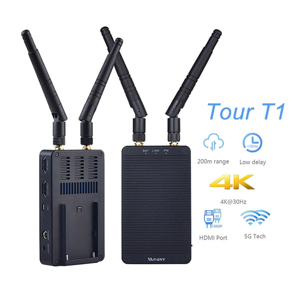 Measy Tour T1 Wireless Transmission 5G HDMI Transmitter Receiver 4K Video Converter 200M Mini Wireless Photo monitor Transmitter