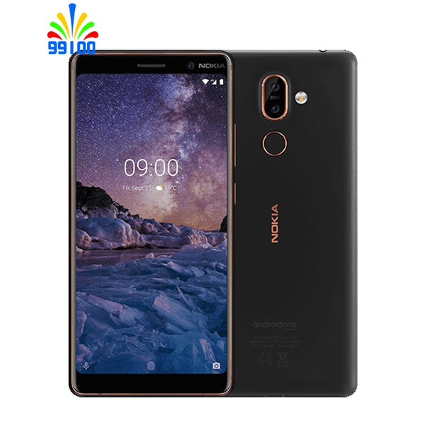 Unlocked Original Nokia 7 plus 4GB+ 64GB Qualcomm660 single/Dual SIM 6inch full Screen Dual Camera Fingerprint 4G-LTE