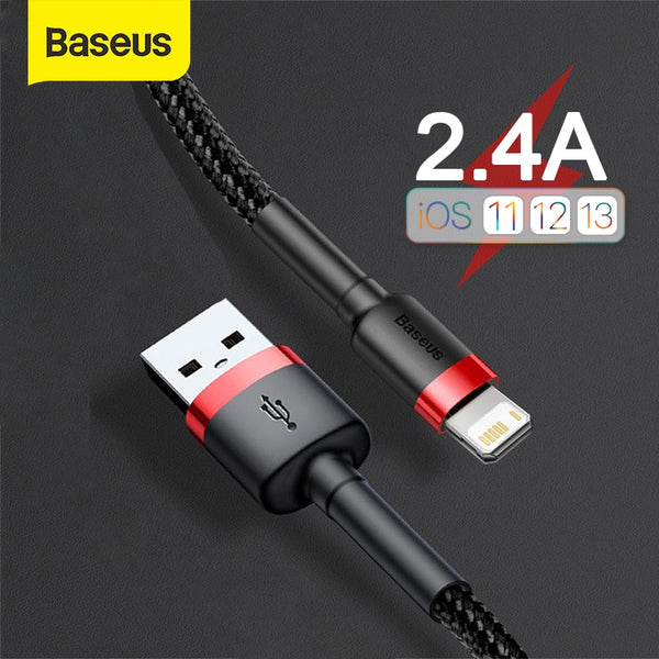 Baseus USB Cable for iPhone 11 Pro Max X XS Fast Charging Cable for iPhone SE USB Data Sync Cable Phone Charger Cable Wire Cord