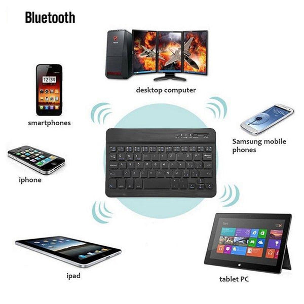 Ultra-thin Wireless Bluetooth 5.0 Keyboard Suitable For IOS/Android/PC Ipad/Windows 10-inch Office Dedicated Simple Design