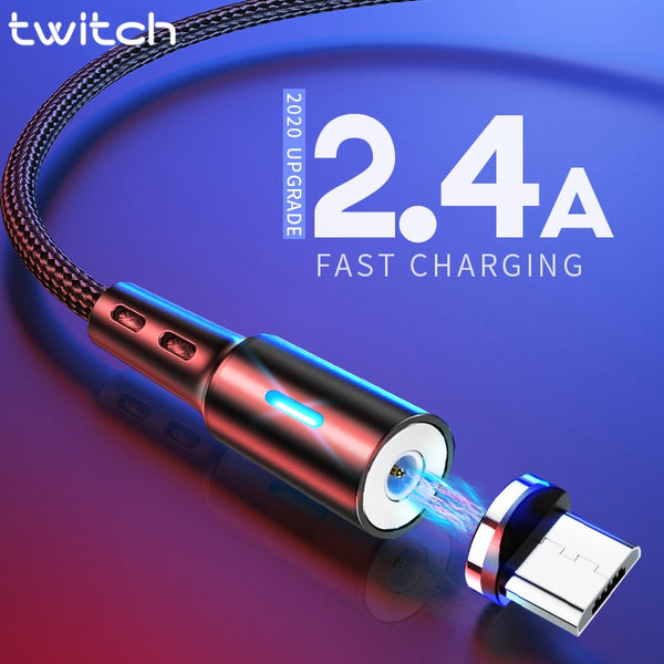 Twitch Micro USB Magnetic USB Cable For Samsmung S7 Xiaomi Microusb Android Mobile Phone Magnet Charging Cable Micro USB Charger