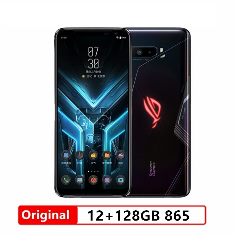 "Asus ROG 3 5G Gaming Phone 6.59 ""12/16GB RAM 128/256G/512GB ROM Snapdragon 865/865 Plus 6000mAh 144HZ FHD+ AMOLED ROG3 Phone"