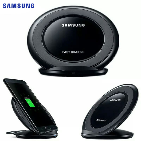 Original Samsung Fast Charge Qi Wireless Charger For Samsung Galaxy S10 S9 S8 Plus S7 Edge Note10 + / iPhone 8 Plus X EP-NG930
