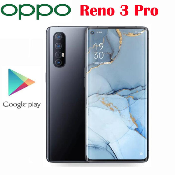Original Official New Oppo Reno 3 Pro 5G Cell phone Snapdragon 765G Octa Core 6.5inch 48MP+13MP+8MP+2MP Real Cameras NFC 4025mAh