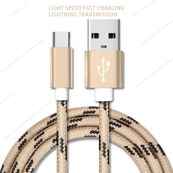 USB Type C Cable for Samsung S10 S9 3A Fast USB Charging Wire Type-C Charger Data Cable for Huawei Note 7 Mobile Phone