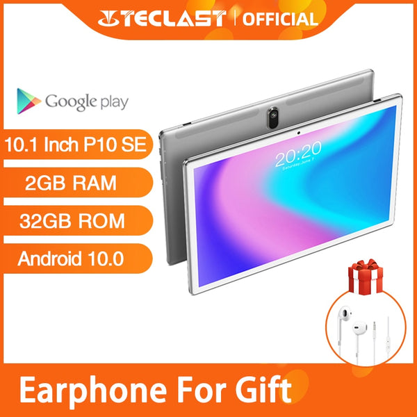 Newest Tablet Android 10.0 Phone call Tablets Teclast P10SE 10.1 Inch 2GB RAM 32GB ROM BDSG GPS Navigation Quad Core Wifi