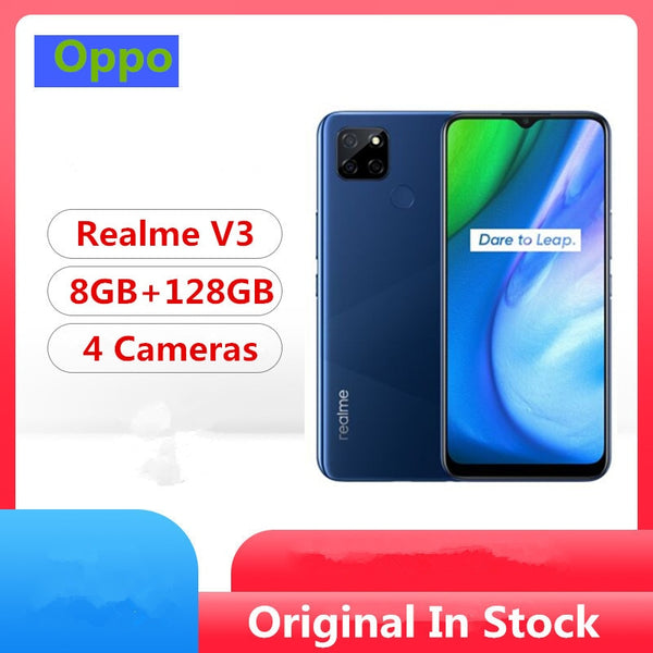 Original Realme V3 5G Mobile Phone Mediatek 720 Android 10.0 6.5