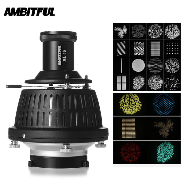 AMBITFUL AL-16 Focalize Conical Snoot Optical Condenser Art Special Effects Shaped Beam Light Cylinder with Shape and Color Gel