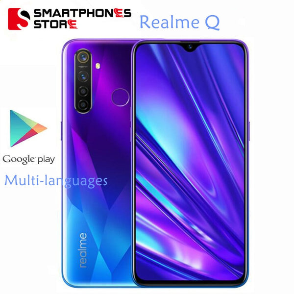 Realme Q 6.3 inch Moblie Phone Snapdragon 712 AIE 48MP Quad Camera Cellphone 20W VOOC Fast Charger