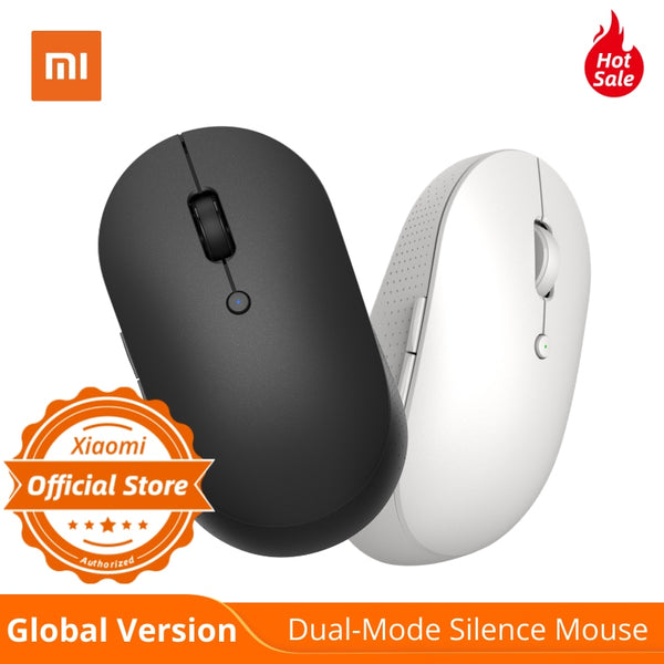 Global Version Xiaomi Wireless Dual-Mode Mouse Silent Ergonomic Bluetooth / USB connection Side buttons With Battary for Laptop