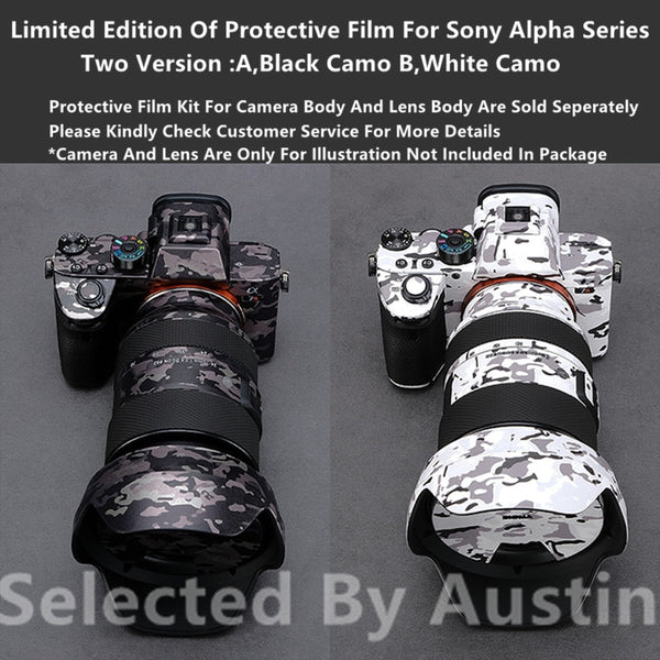 Limited Edition Camera Skin Decal Protective Film For Sony A7RIV A7III A7M3 A7R3 A7R4 A9 A6400 A6300 Wrap Cover Protector