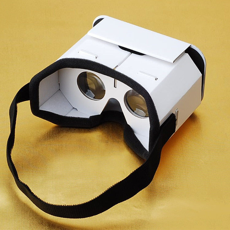 DIY Portable Virtual Reality Glasses Google Cardboard 3D Glasses VR glasses For SmartPhones For Iphone X 7 8 VR (White)