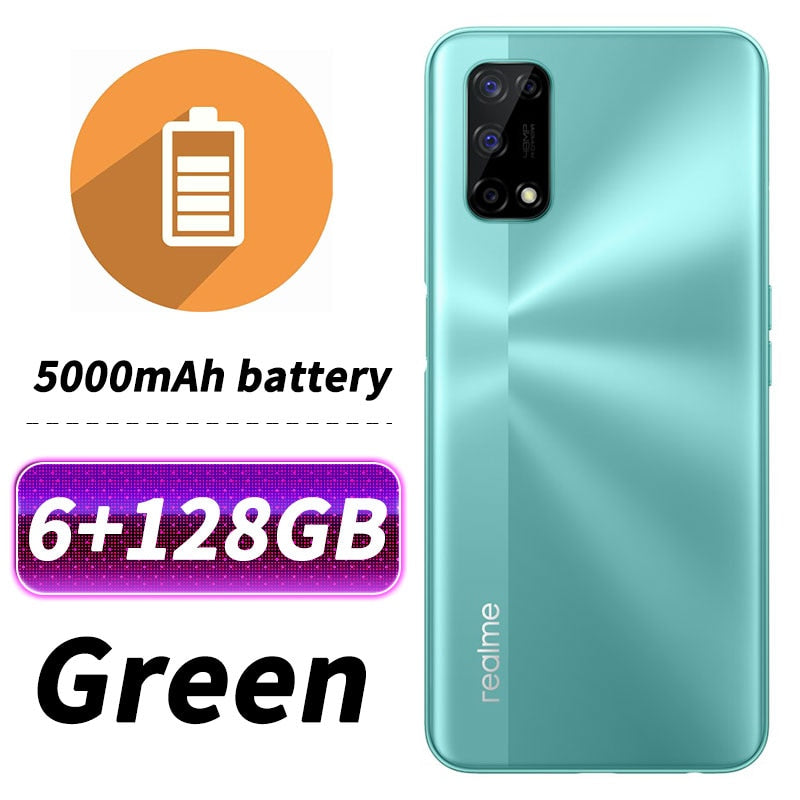 Original Realme V5 5G SmartPhone 6.5 inch MediaTek 720 Octa Core 7nm crafts 30W Dash Charger Google Play