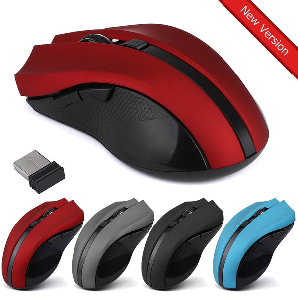 Cordless Wireless 2.4GHz Optical Mouse MicePortable Ergonomic Computer Silent PC Desktop Laptop Accessories USB Receiver