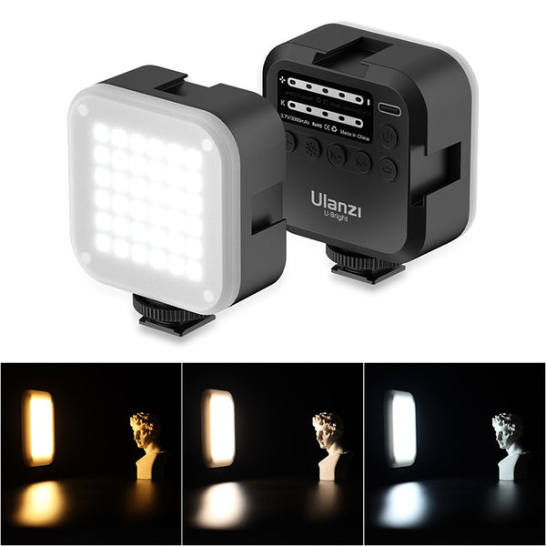 Ulanzi U-Bright 2700-6500K LED Video Light Mini Vlog Light CRI95 Color Gel Lamp Mobile DSLR SLR Camera Vlog Light On Camera