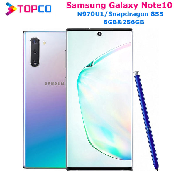 Samsung Galaxy Note10 N970U1 Original Mobile Phone Snapdragon 855 Octa Core 6.3