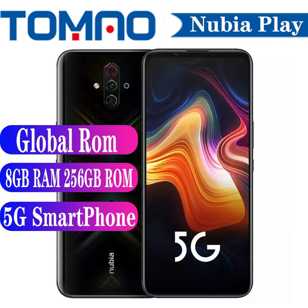 Nubia Play 5G Smart Phone Snapdragon 765G 6GB 8GB RAM 128GB 256GB ROM 5100mAh 30W Fast Charger 144Hz Amoled 48MP Quad Cameras