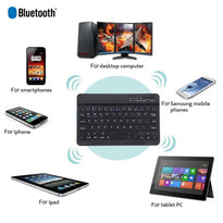 7-inch Wireless Bluetooth Keyboard Ultra-thin Mute Suitable For IOS For Android Mac Windows Laptop Tablet Mobile Phone