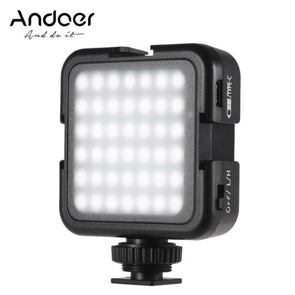 Andoer 42LED Ultra Bright LED Video Lights 6000K Temperature Photographing Lighting for Canon Nikon Sony DSLR Cameras