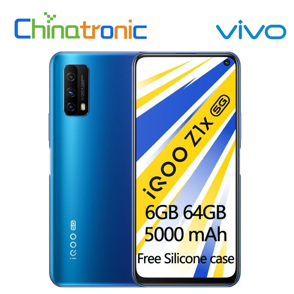Original VIVO iQOO Z1x 6GB 64GB 5G Mobile Phone Snapdragon 765G Octa Core 6.57