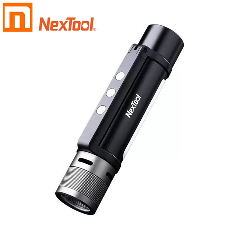 Xiaomi NEXTOOL 6-in-1 1000lm Dual-light Zoomable Alarm Flashlight USB-C Rechargeable Mobile Power Bank Camping Work Light