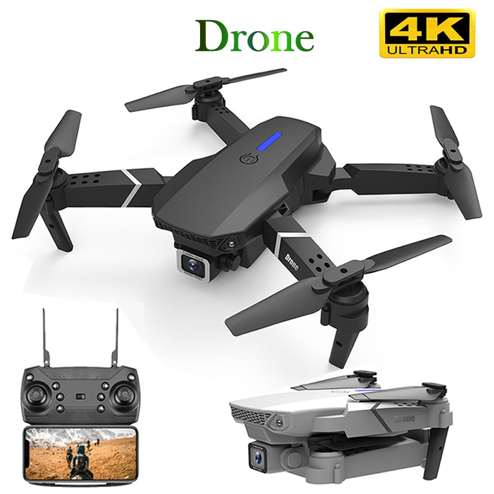 RC Drone Quadrocopter UAV with 4K Camera E525 WIFI FPV Wide Angle HD Height Hold Remote Control Foldable Quadcopter Dron Toy