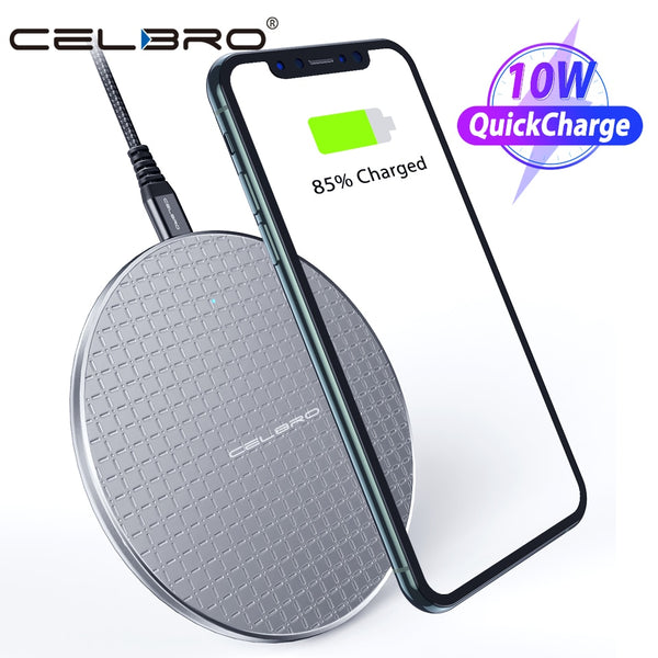 10W QI Wireless Charger Charging Pad Dock Fast Charge Phone Stand for Iphone Samsung Galaxy S20 Ultra Note 20 Plus Xiaomi MI 9 8