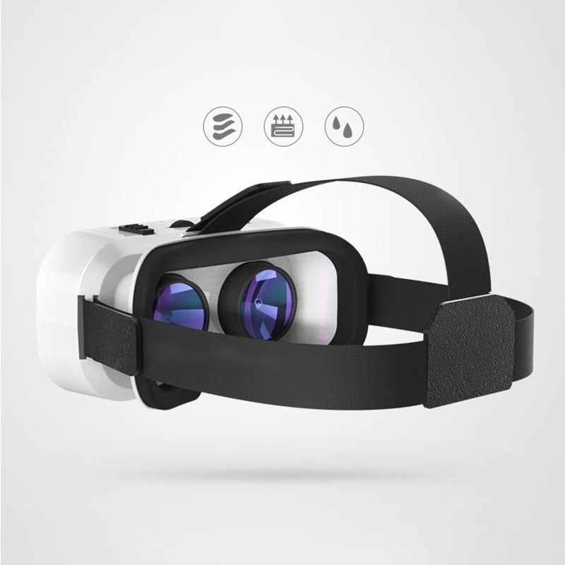 3D Glasses Box Stereo Cardboard Headset Helmet Bluetooth VR Virtual Reality For IOS Android Smartphone