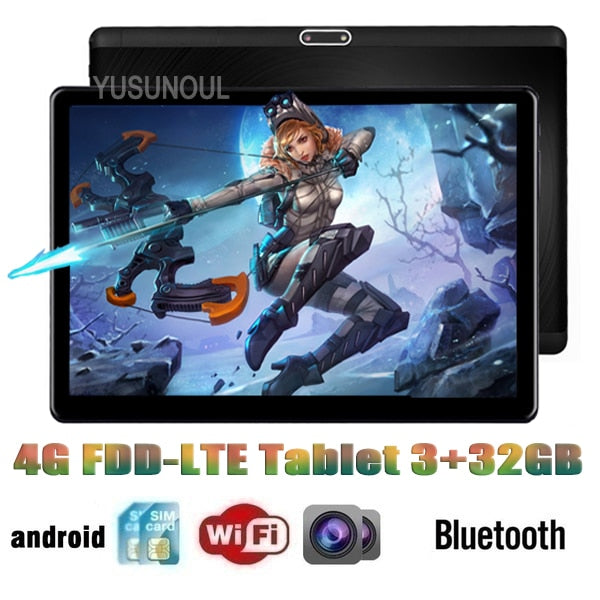 High Version Super DHL Free 10 inch Tablet MT6753 Octa Core 1920 x 1200 2.5D IPS Screen Dual 4G LTE 3+32GB ROM Android Tablet pc