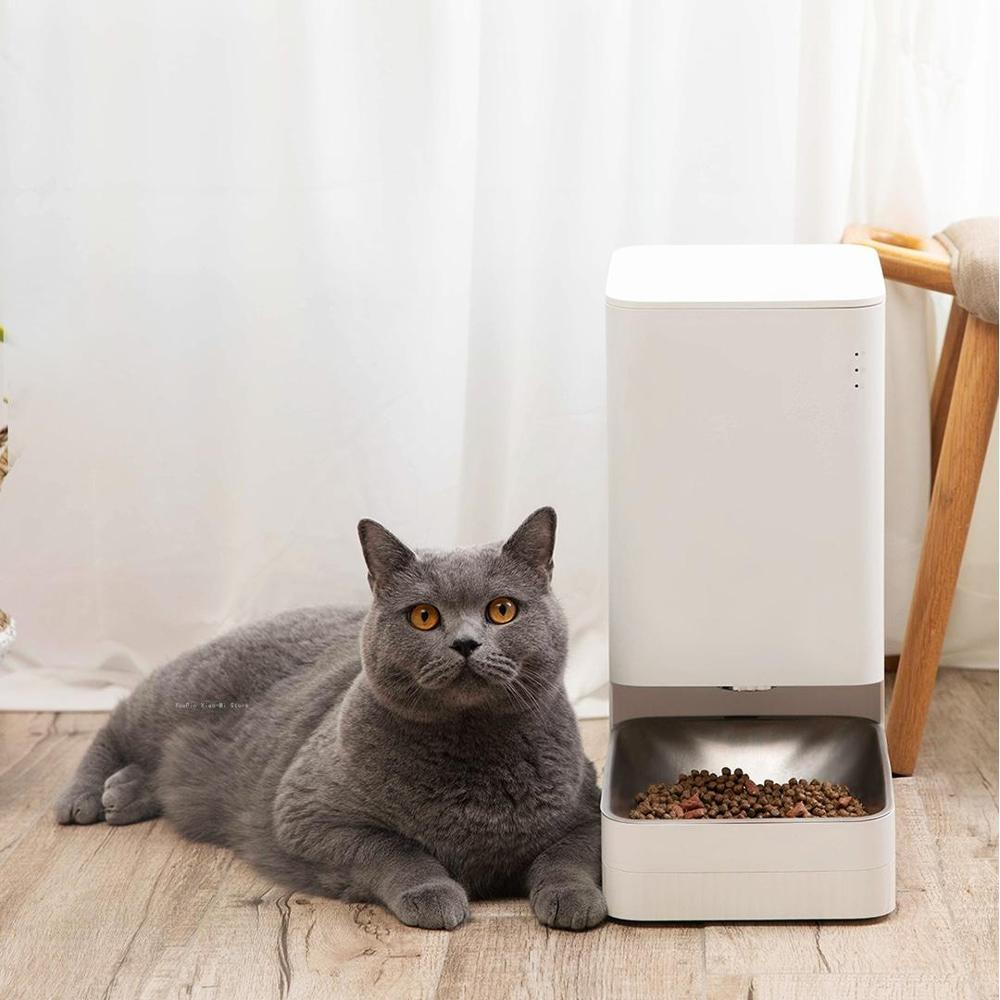 New Xiaomi Xiaowan Smart Pet Feeder Cat Dog Remote Voice Control Automatic Feeding Regular Quantitative With Mijia App