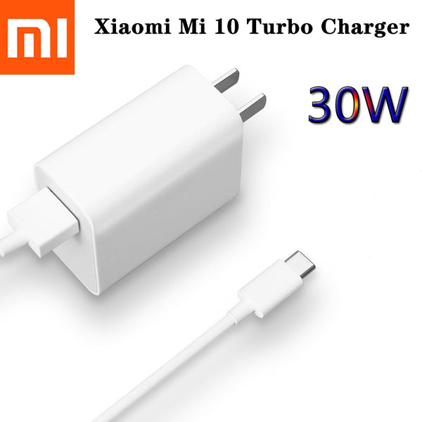 Xiaomi Mi10 Mi 10 Fast Charger QC4.0 30W Fast Charge Adapter Type C Cable For Mi 9 10 Pro Lite CC9e Note 10 Redmi Note 9 K30 Pro