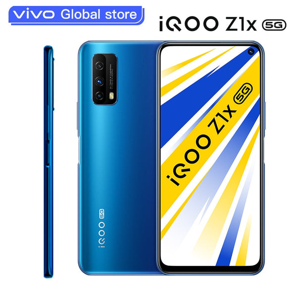 2020 New vivo iQOO Z1x 6GB 128GB Dual-mode 5G Smartphone Snapdragon 765G 5000mAh Battery 33W Charging 120Hz Celular Cellphone
