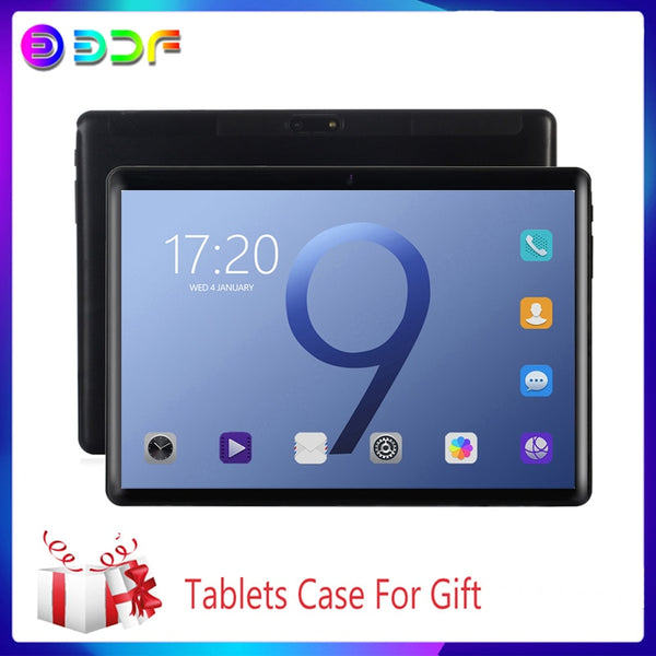 10.1 inch Tablet pc New Android 9.0 Tablets 3G/4G Phone Call Octa Core 6GB+64GB ROM Bluetooth Wi-Fi 2.5D Steel Screen Tablet