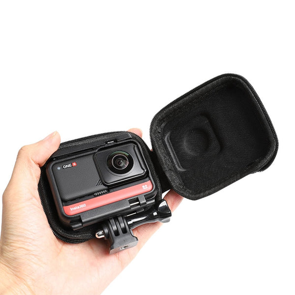 for Insta360 ONE R Panoramic Edition Carrying Case Insta 360 ONE R 360 mod wide angle Camera Mini Portable Storage Bag Accessory (Black Color)