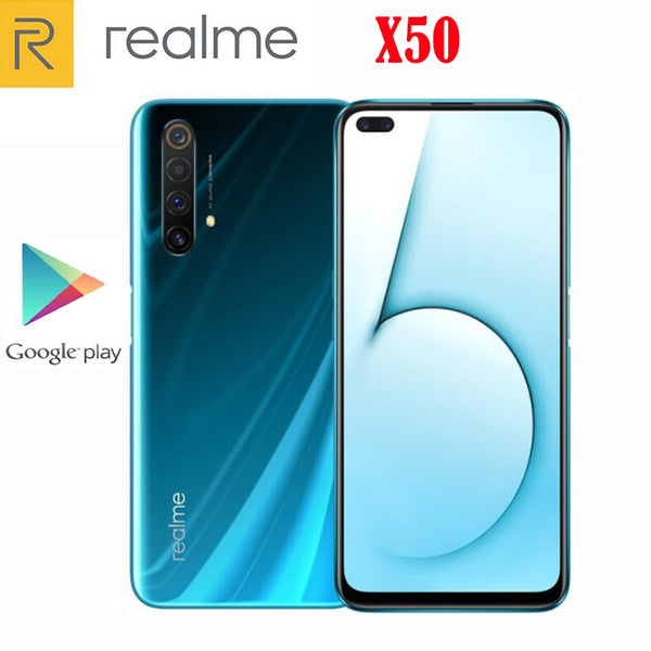 Official Original Realme X50 5G SmartPhone Snapdragon 765G Android 10.0 6.57inch 120Hz 6GB RAM 64GB ROM 64.0MP 30W Charger NFC