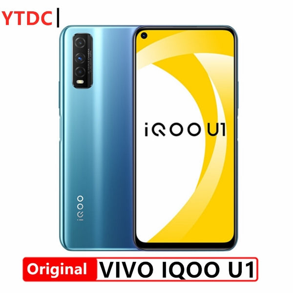 Original Vivo iQOO U1 4G Smartphone UFS2.1 Face ID Snapdragon 720G 6.53inch 2340x1080 LCD 48.0MP Camera 4500mAh 18W Quick Charge