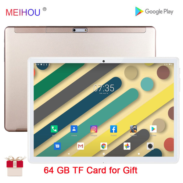 10 Inch Tablet Octa Core 3GB RAM 32 GB ROM IPS HD Screen Dual SIM Card Phone Call GPS Bluetooth Car Connection +Gifts